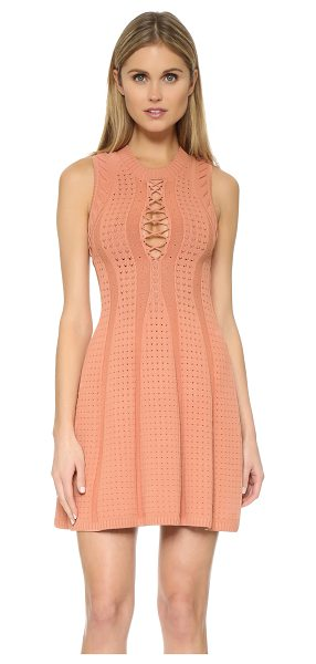 Ronny Kobo Shira needle stitch dress in clay - A flared Ronny Kobo mini dress with pointelle knit...