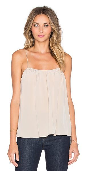 Rory Beca Bettie tank in beige - 100% silk. Dry clean only. Gathered detail. RORY-WS483....