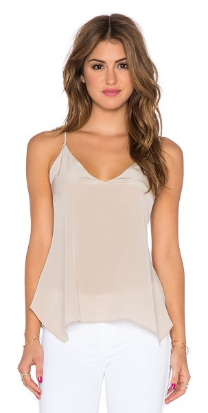 Rory Beca Breton tank in beige - Silk blend. Dry clean only. Adjustable shoulder straps....