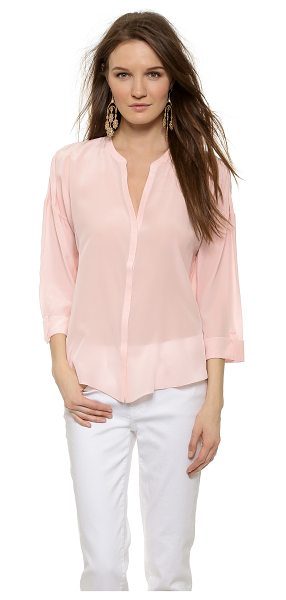 Rory Beca Cole blouse in cameo pink - Ruched shoulders bring soft volume to this silk Rory...