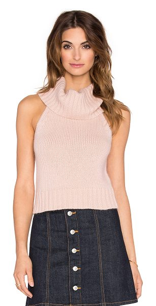 Rory Beca Devine Crop Top in pink - 70% nylon 30% angora. Dry clean only. RORY-WS480....