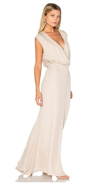 RORY BECA MAID by Rory Beca Venice Gown in beige - Self: 100% silkLining: 100% rayon. Dry clean only. Fully...