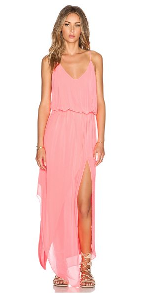 Rory Beca Nikee Maxi Dress in pink - Self: 100% silkLining: 100% rayon. Dry clean only. Fully...