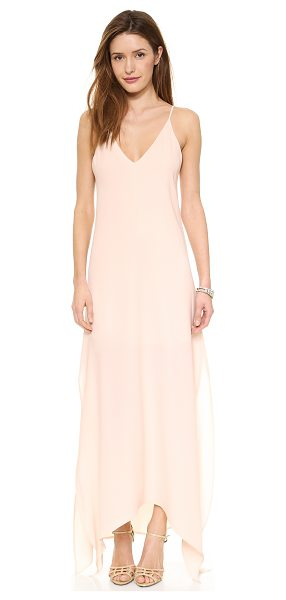Rory Beca The Ever Gown in blush - Exclusive to Shopbop. Side slits and an asymmetrical hem...