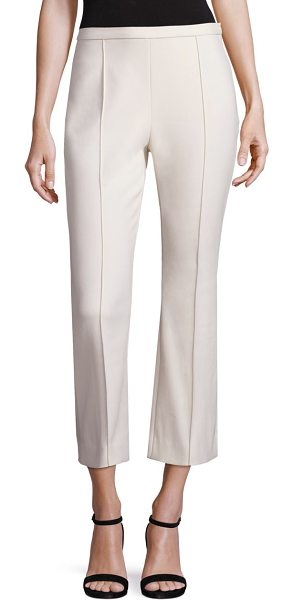 ROSETTA GETTY Cropped flare pants in pearl