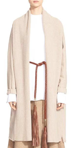 ROSETTA GETTY wool & cashmere cardigan in oatmeal - An oversized shawl collar lends a beautiful draped...