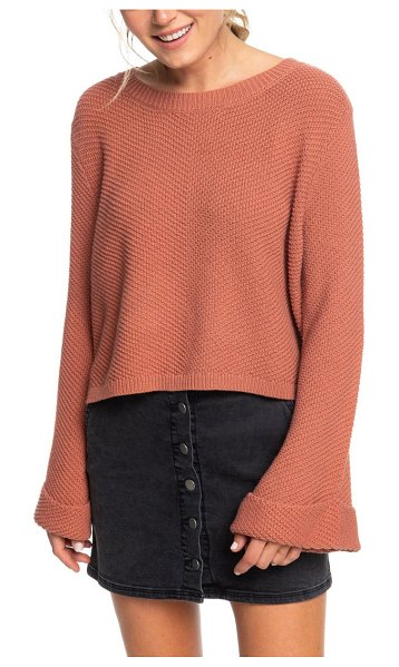 Roxy sorrento shades bell sleeve sweater in coral