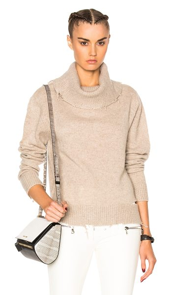 RtA Anouk Sweater in neutrals - 100% cashmere.  Made in China.  Knit fabric.  Destroyed...
