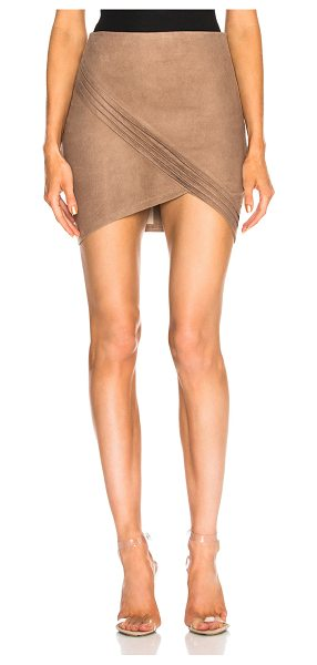 RtA Blossom Leather Skirt in nude - 100% lamb suede leather.  Made in China.  Professional...