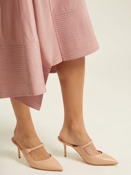 Rupert Sanderson tosca leather backless mules in nude - Rupert Sanderson - Rupert Sanderson introduces the Tosca...