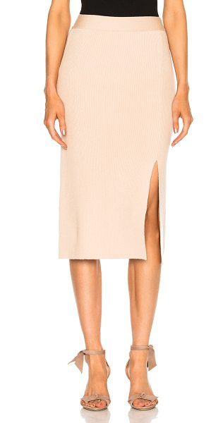 RYAN ROCHE Bottom Slit Fitted Skirt - 93% cashmere 7% poly.  Made in Italy.  Dry clean only. ...