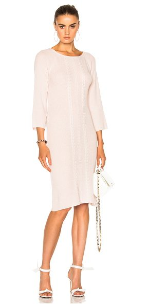 RYAN ROCHE for FWRD Sweater Dress in champagne pink - 100% cashmere. Made in Nepal. Dry clean only. Unlined....