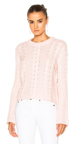 RYAN ROCHE for FWRD Knit Sweater in champagne pink - 100% cashmere. Made in Nepal. Dry clean only. Knit...