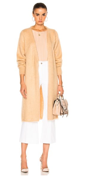 RYAN ROCHE Long Cardigan with Belt in bare - 70% mohair 30% silk. Made in Italy. Dry clean only. Knit...