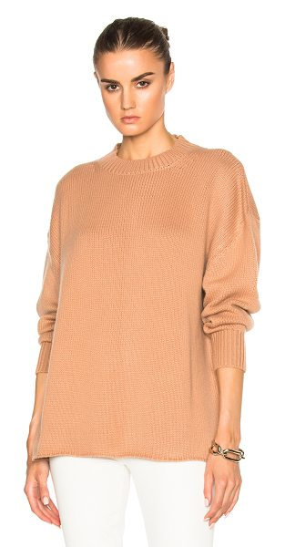 RYAN ROCHE Oversized Cashmere Sweater in neutrals - 100% cashmere.  Made in Nepal.  Dry clean only.  Knit...
