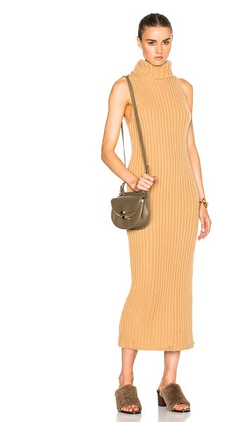 RYAN ROCHE Sleeveless Dress in neutrals - 100% cashmere.  Made in Nepal.  Dry clean only. ...