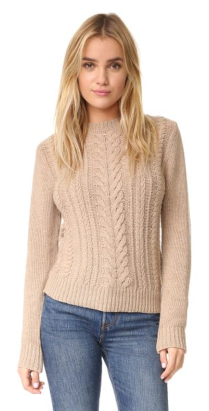 Ryder milo cable knit in oatmeal - A cable-knit front panel lends soft texture to this...