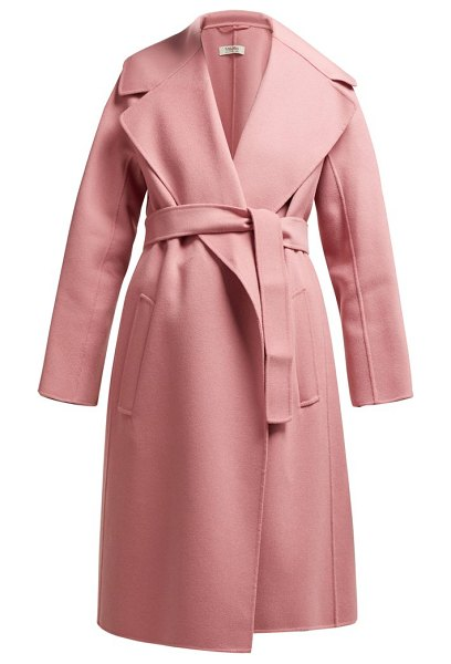 S MAX MARA dada coat in pink - S Max Mara - S Max Mara's pink wool Dada coat channels...
