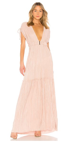 SABINA MUSAYEV Naomi Dress in rose - 100% poly. Hand wash cold. Unlined. Hook and eye front...