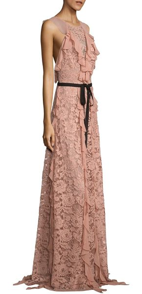 SACHIN & BABI melody ruffled lace gown - Cascading ruffles elevate lace open-back gown....