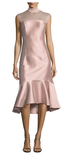 "Sachin & Babi Noir Adelia Smocked-Collar Satin Cocktail Dress in blush - Sachin & Babi ""Adelia"" satin cocktail dress. Approx...."
