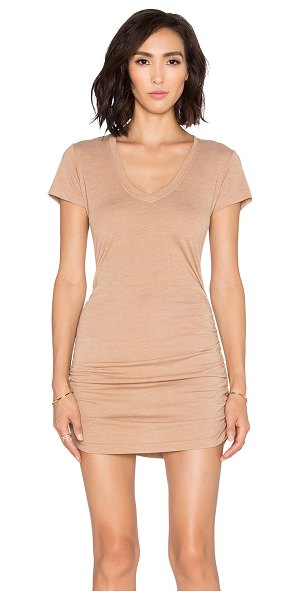 SAINT GRACE Cap sleeve shirred v neck dress - 50% rayon 50% poly. Unlined. Ruched sides. SAIN-WD278....