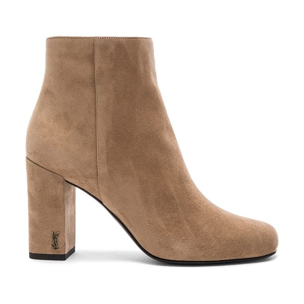 Saint Laurent Babies Pin Boot in neutrals - Suede upper with leather sole.  Made in Italy.  Approx...