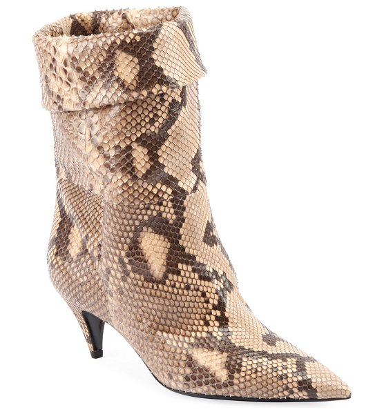 Saint Laurent Charlotte Python Pointed Booties in python
