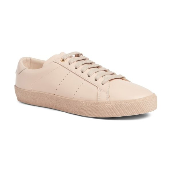 Saint Laurent court classic sneaker in light pink - Inspired by both the runway and the court, this sleek...