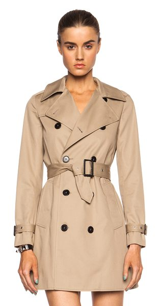 SAINT LAURENT Gabardine babydoll poly-blend trench - Self: 65% poly 35% cotton - Contrast Fabric: 100% cotton...
