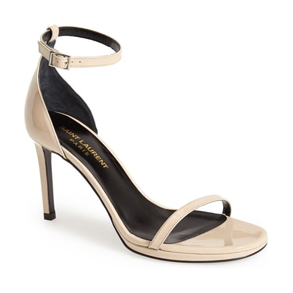 Saint Laurent jane ankle strap sandal in poudre - Both classic and contemporary, sexy and elegant, the...