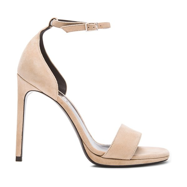 Saint Laurent Jane suede sandals in neutrals - Suede upper with leather sole.  Made in Italy.  Approx...