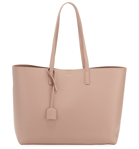 Saint Laurent Large Shopping Tote Bag in neutral - Saint Laurent semi-structured leather shopping tote bag....