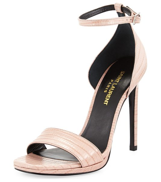 Saint Laurent Lizard-embossed dorsay sandal in rose