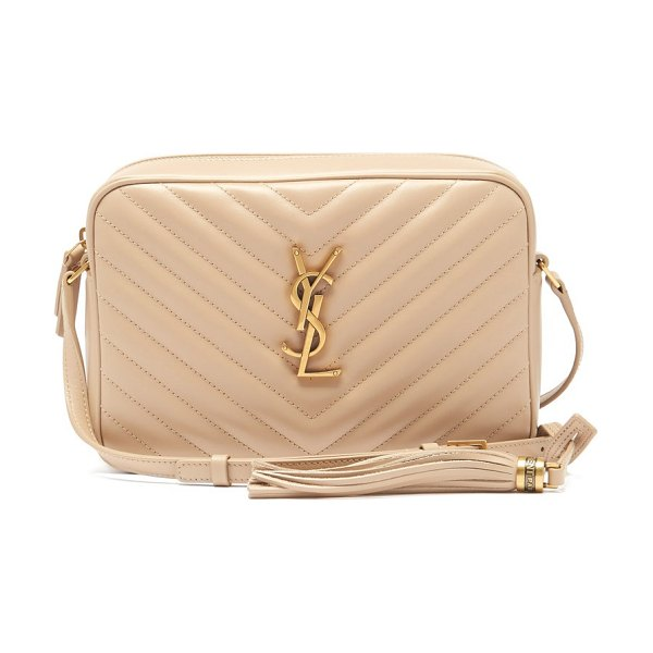 Saint Laurent lou medium quilted leather cross-body bag in beige