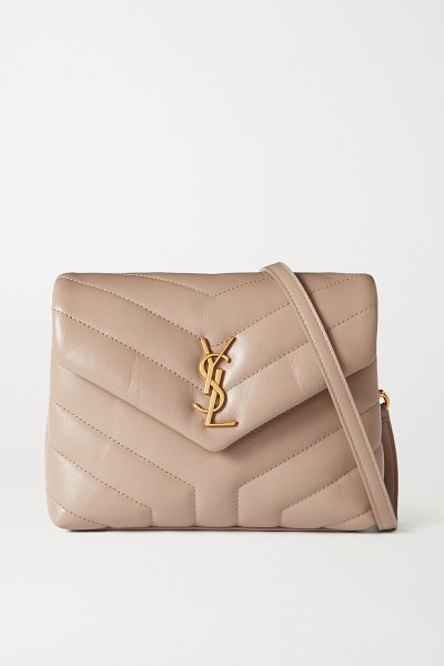 Saint Laurent loulou toy quilted leather shoulder bag in neutrals