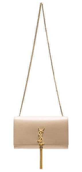 Saint Laurent Medium Kate Chain Bag with Tassel in poudre - Calfskin leather with suede lining and gold-tone...