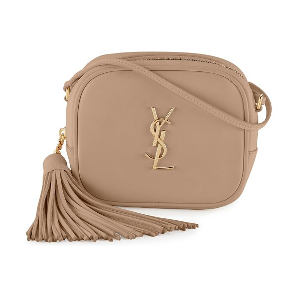 Saint Laurent Monogram Blogger Crossbody Bag in beige - Saint Laurent smooth calfskin crossbody bag. Golden...