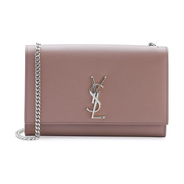 Saint Laurent Kate monogram small shoulder bag in fard/blush - Saint Laurent grained calfskin leather crossbody bag....