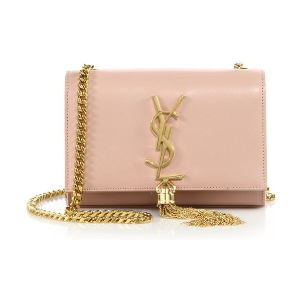Saint Laurent monogram small tassel chain bag in palerose - Effortlessly elegant in smooth leather, this chain bag...