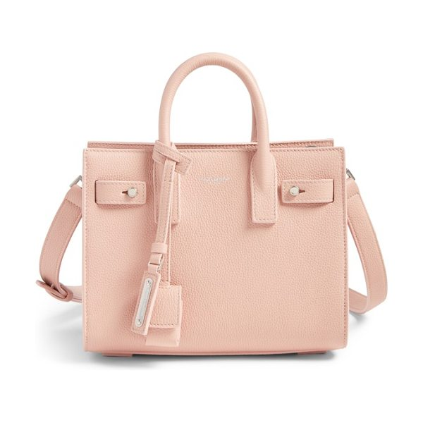 Saint Laurent nano sac du jour leather tote in pale pink - A compact Saint Laurent bag in textured calfskin leather...