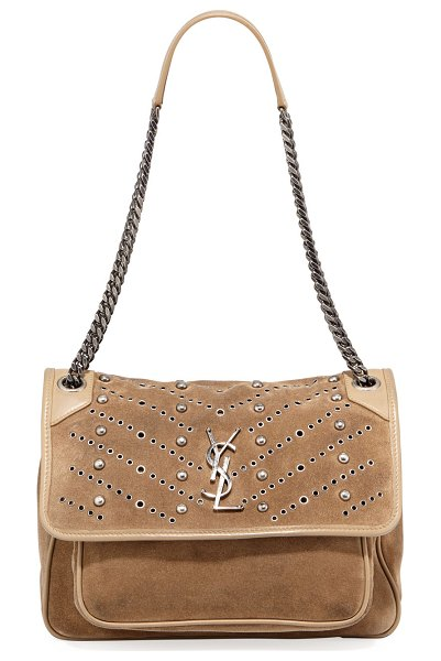 9b7625c64d Saint Laurent Niki Monogram Ysl Medium Suede Shoulder Bag | Nudevotion