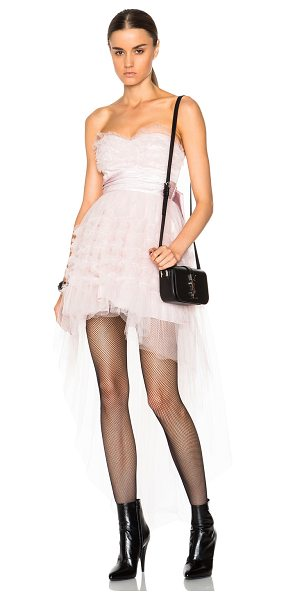 Saint Laurent Nylon tulle dress in pink - Self: 100% polyamide - Contrast Fabric: 100% silk -...