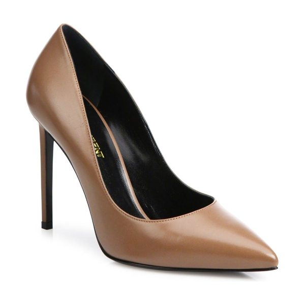 Saint Laurent paris skinny leather pumps in tanned - A wardrobe essential for every woman, the sleek...