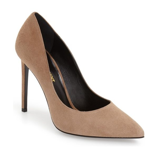 SAINT LAURENT 'paris skinny' pointy toe pump - A alluringly curvy topline and bewitching pointy toe...