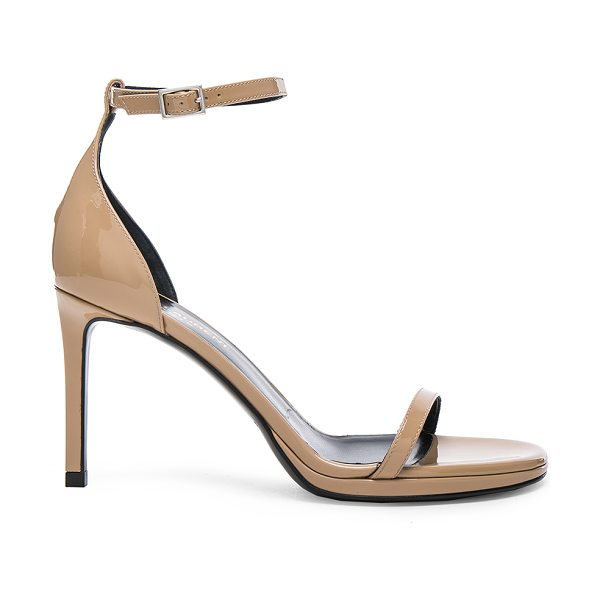 SAINT LAURENT Patent Leather Jane Sandals - Patent leather upper with leather sole.  Made in Italy. ...
