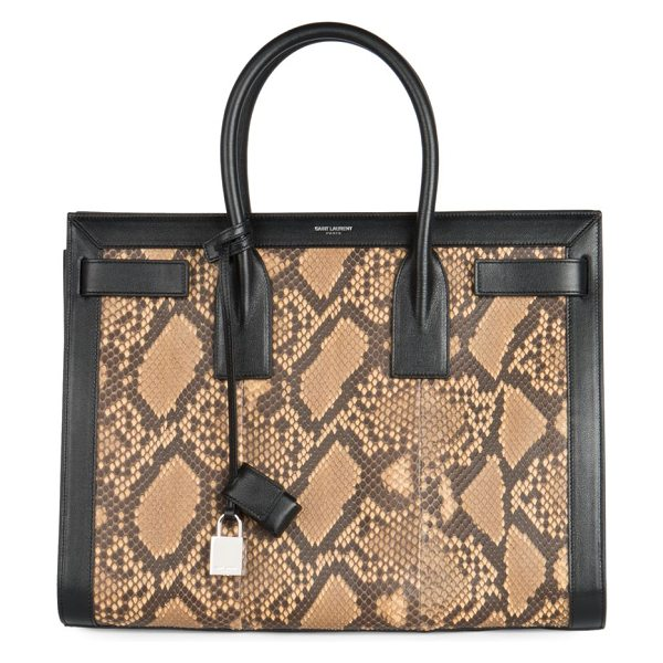SAINT LAURENT Sac de jour small python tote - A structured carryall design crafted in exotic python...