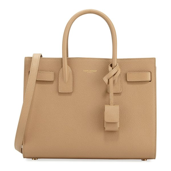 Saint Laurent Sac de Jour Baby Grained Leather Satchel Bag in camel - Saint Laurent grained calfskin satchel with golden...