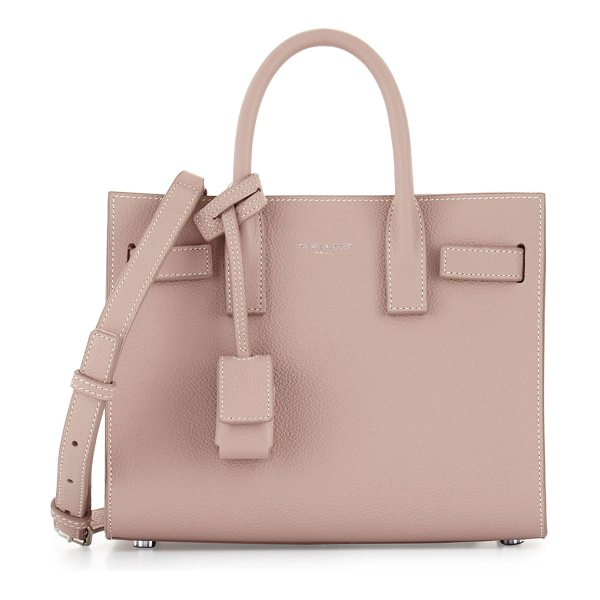 Saint Laurent Sac de Jour Nano Leather Satchel Bag in pink - Saint Laurent calfskin leather satchel bag with contrast...