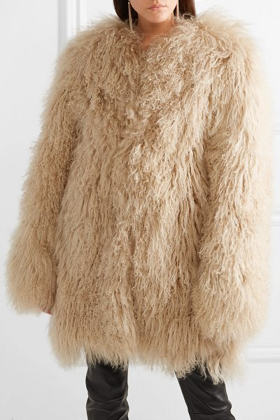 Saint Laurent shearling coat in beige